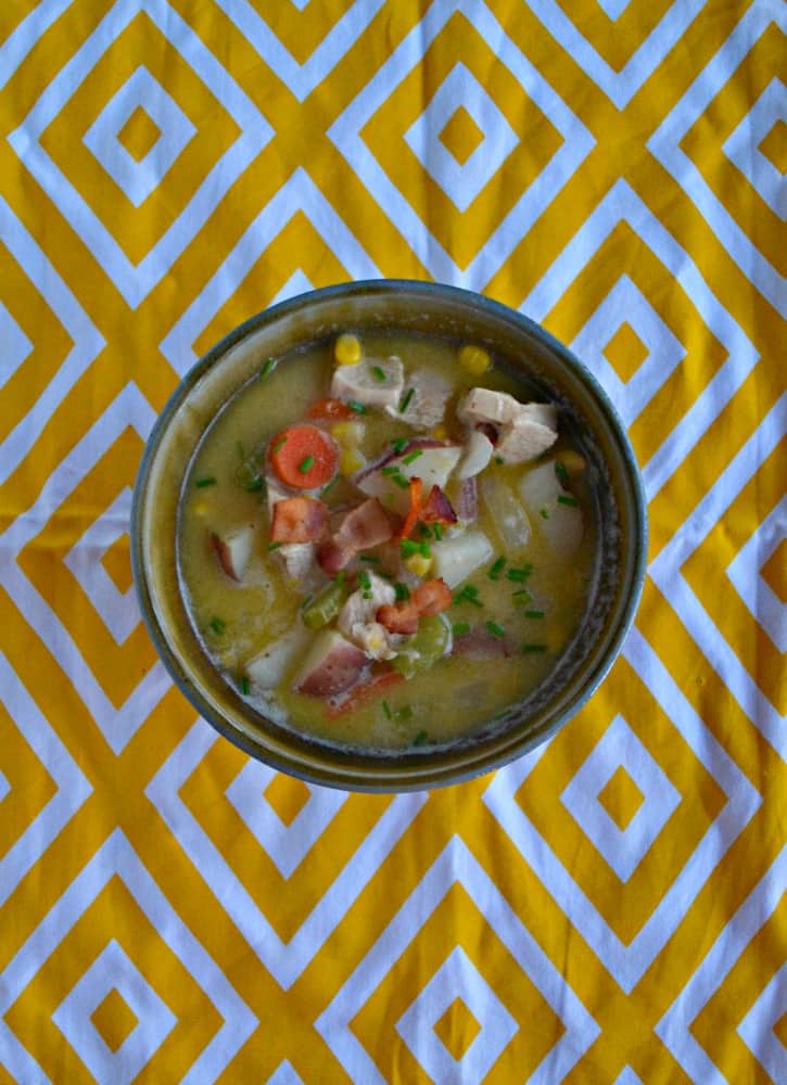 Looking for something to warm you up? Try a bowl of this delicious New England Style Chicken Chowder.