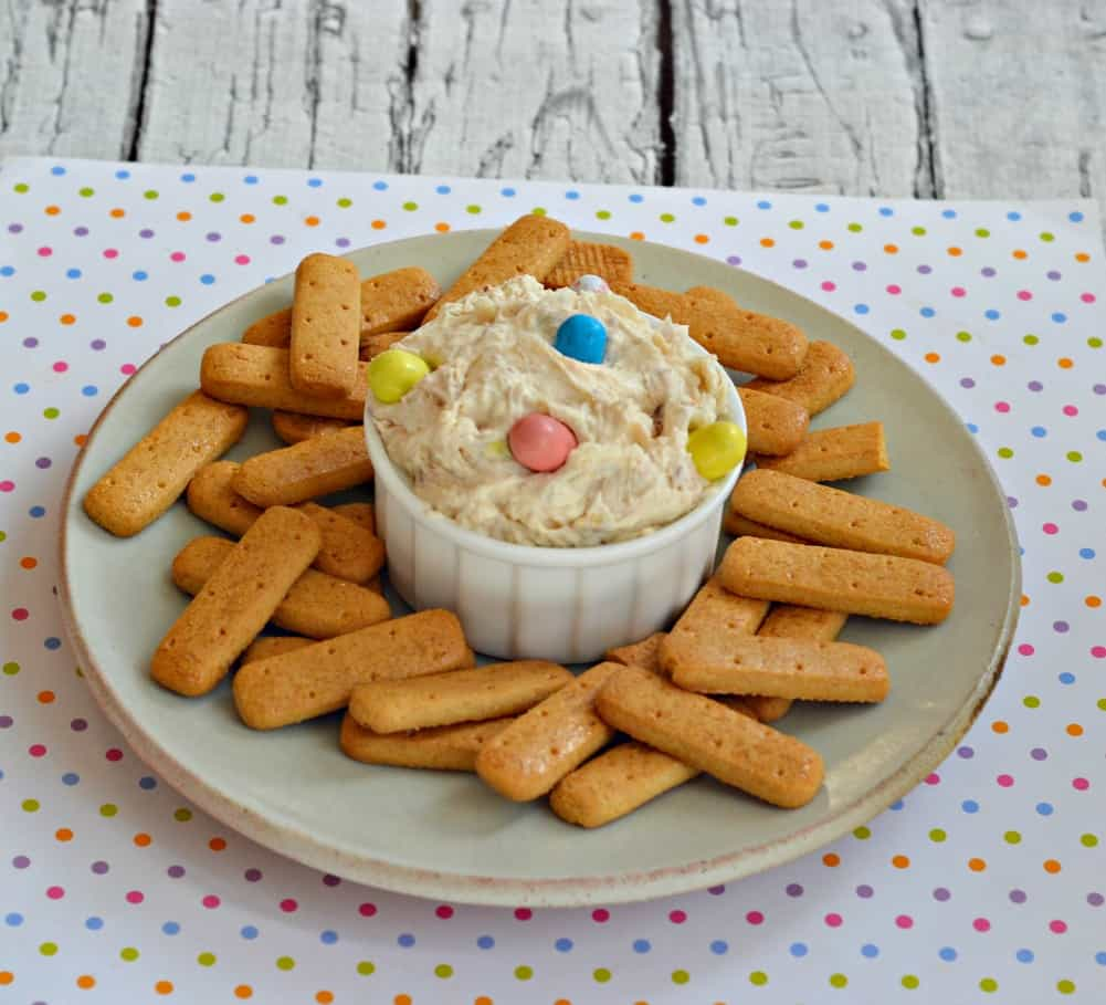Looking for an easy Easter dessert? Try this 5 Minute Easter Malted Milk Dip served with graham crackers!