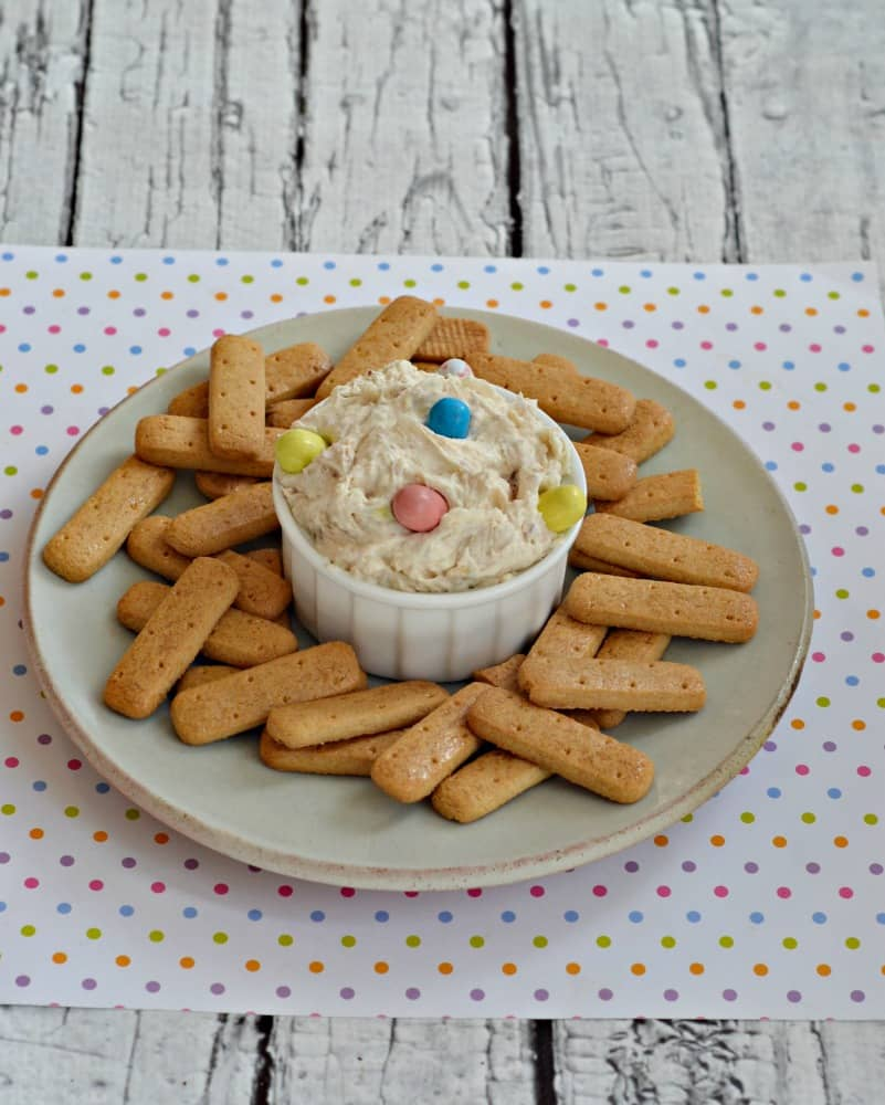 Guests will love this simple Easter Malted Milk Dip served with cookies and graham crackers.
