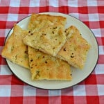 Italian Herb and Garlic Focaccia #BreadBakers