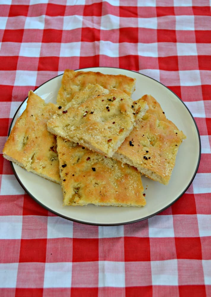 Love the flavors in this Italian Herb and Garlic Focaccia Bread