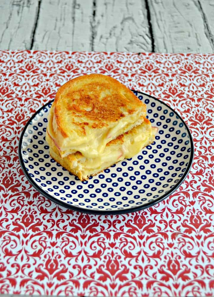 Want to make your own gourmet grilled cheese at home? Try this incredible Apple Gouda Grilled Cheese!