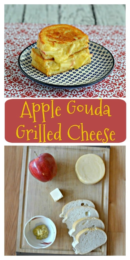 Everything you need to make an incredibly delicious Apple Gouda Gourmet Grilled Cheese Sandwich!
