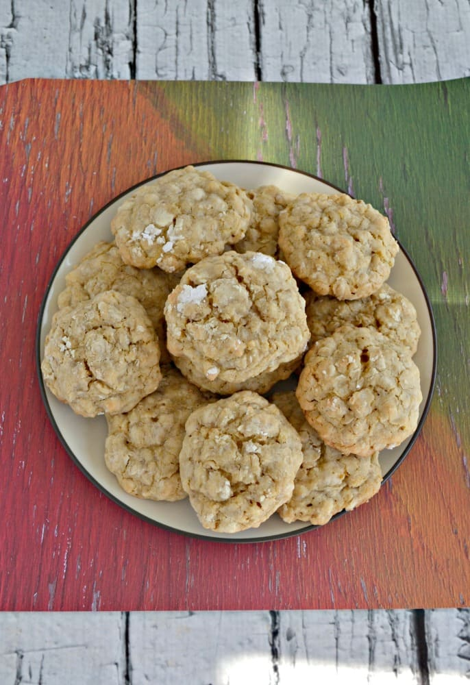 I'm in love with these soft and chewy Grandma's Oatmeal Cookies!