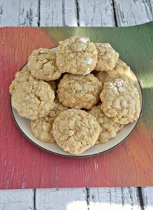 Grandma's Oatmeal Cookies are a delicious soft and chewy cookie rolled in powdered sugar.