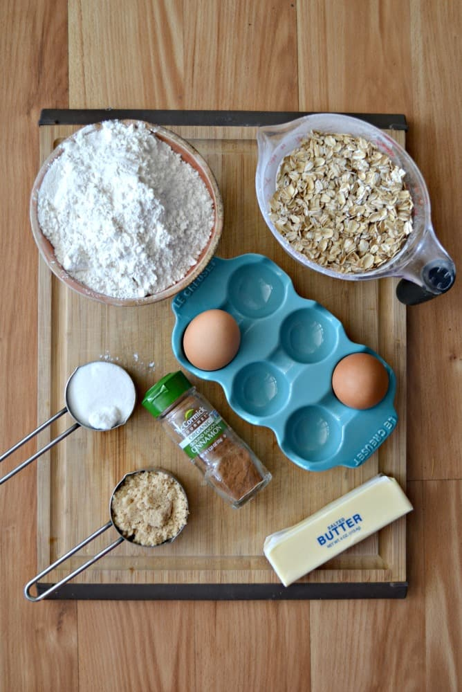 Everything you need to make the most delicious Grandma's Oatmeal Cookies!