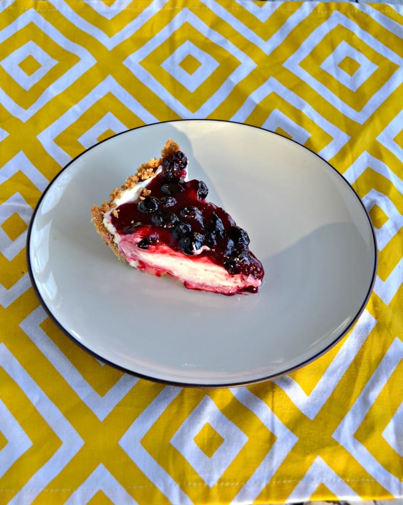 Take a bite out of this bright Blueberry Lemon Cream Pie!