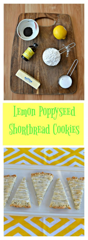 Give these buttery Lemon Poppyseed Shortbread Cookies a try with a cup of your favorite tea!