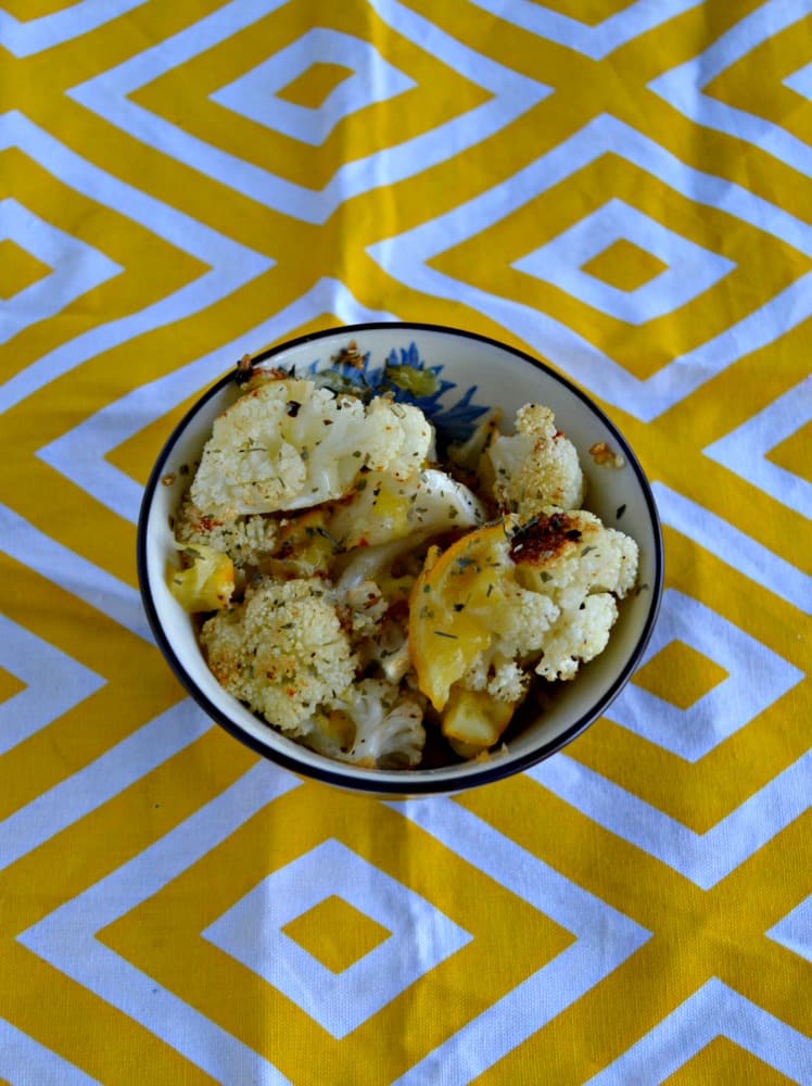 Love this Spiced Cauliflower with Meyer Lemons!