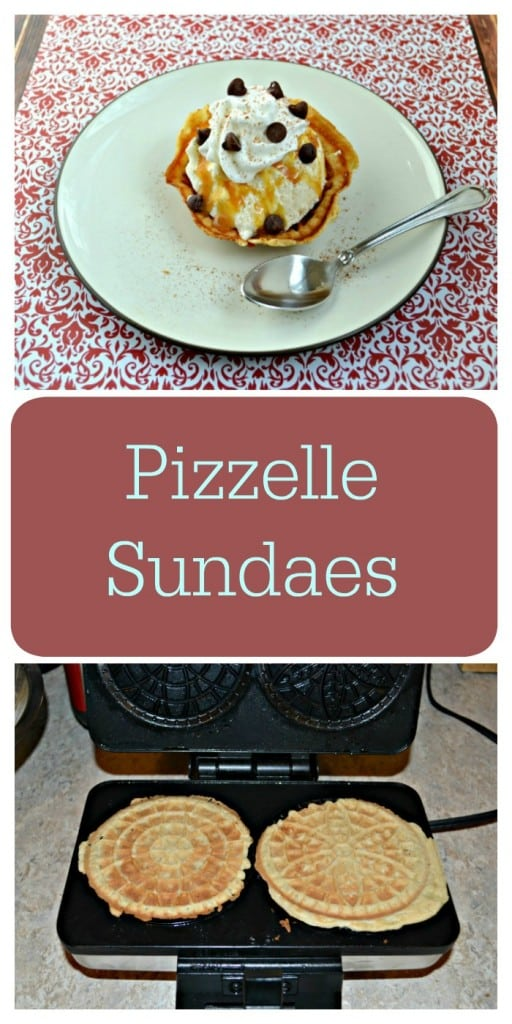 Looking for the ultimate sundae idea? Check out these Pizzelle Sundaes filled with ice cream and your favorite toppings!
