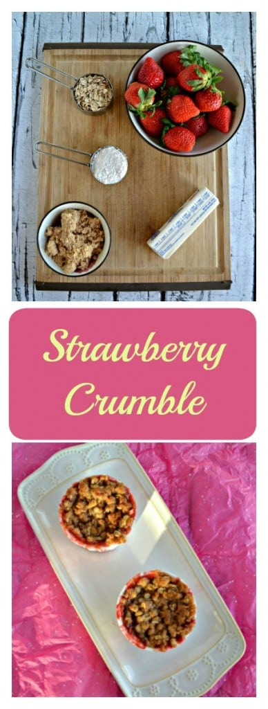 Want a tasty dessert made with fruit? Try this fresh Strawberry Crumble for dessert!