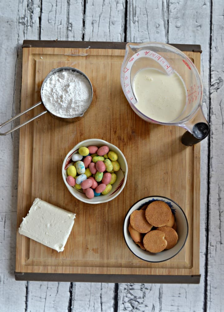 Everything you need to make a tasty Easter Malted Milk Dip!