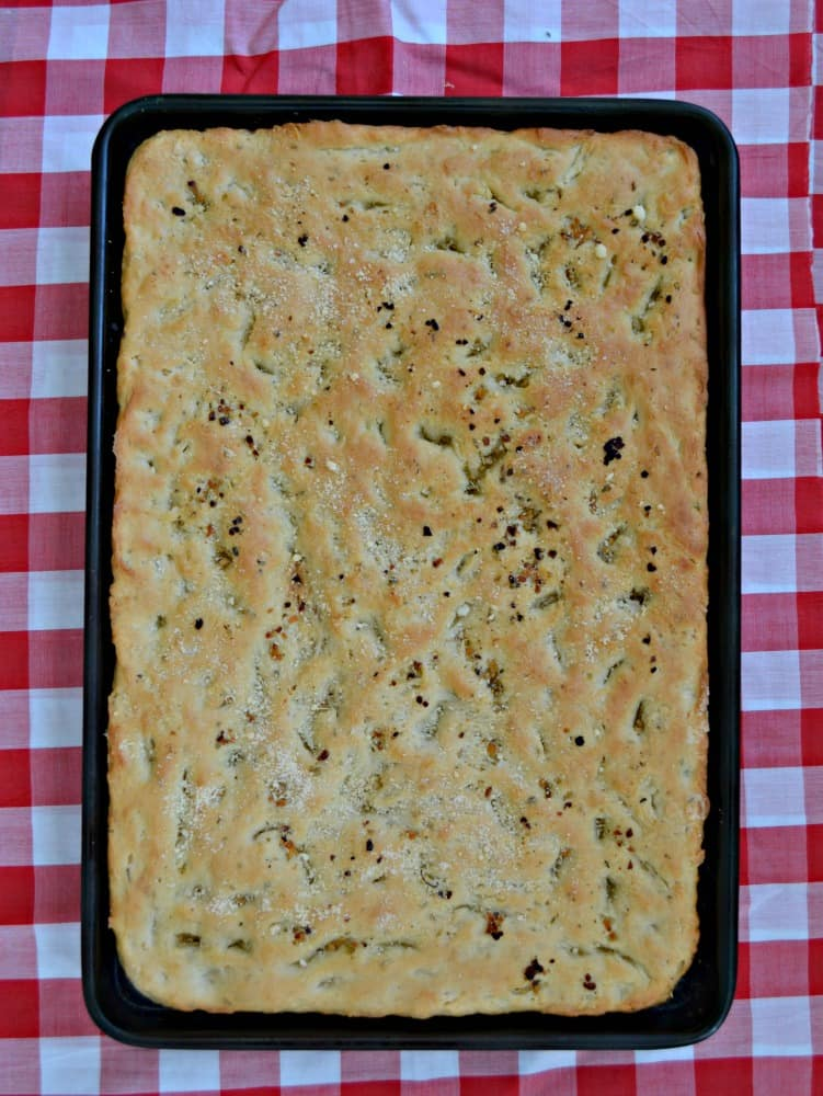 Make this easy and flavorful Italian Herb and Garlic Focaccia Bread!