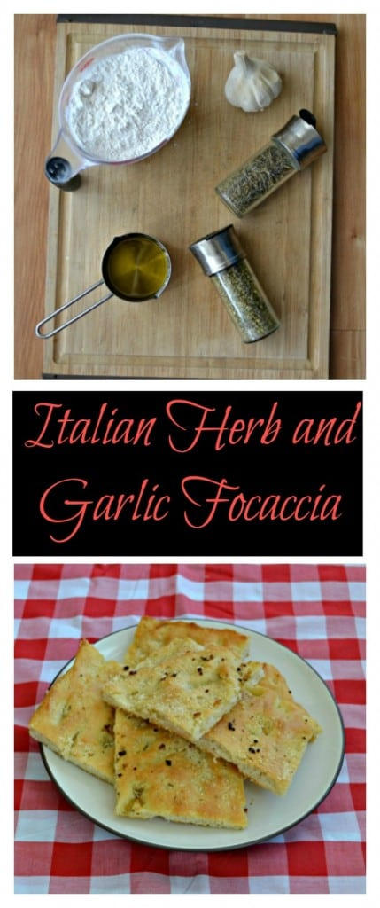 Everything you need to make this delicious Italian Herb and Garlic Focaccia