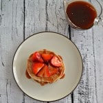 Strawberry Shortcake Pancakes with Homemade Syrup
