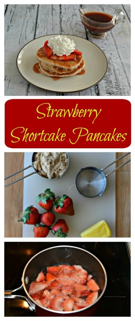 Can't decide what's for breakfast? Give these Strawberry Shortcake Pancakes with homemade Strawberry Syrup a try!
