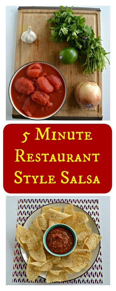 Everything you need to make easy 5 Minute Restaurant Style Salsa!