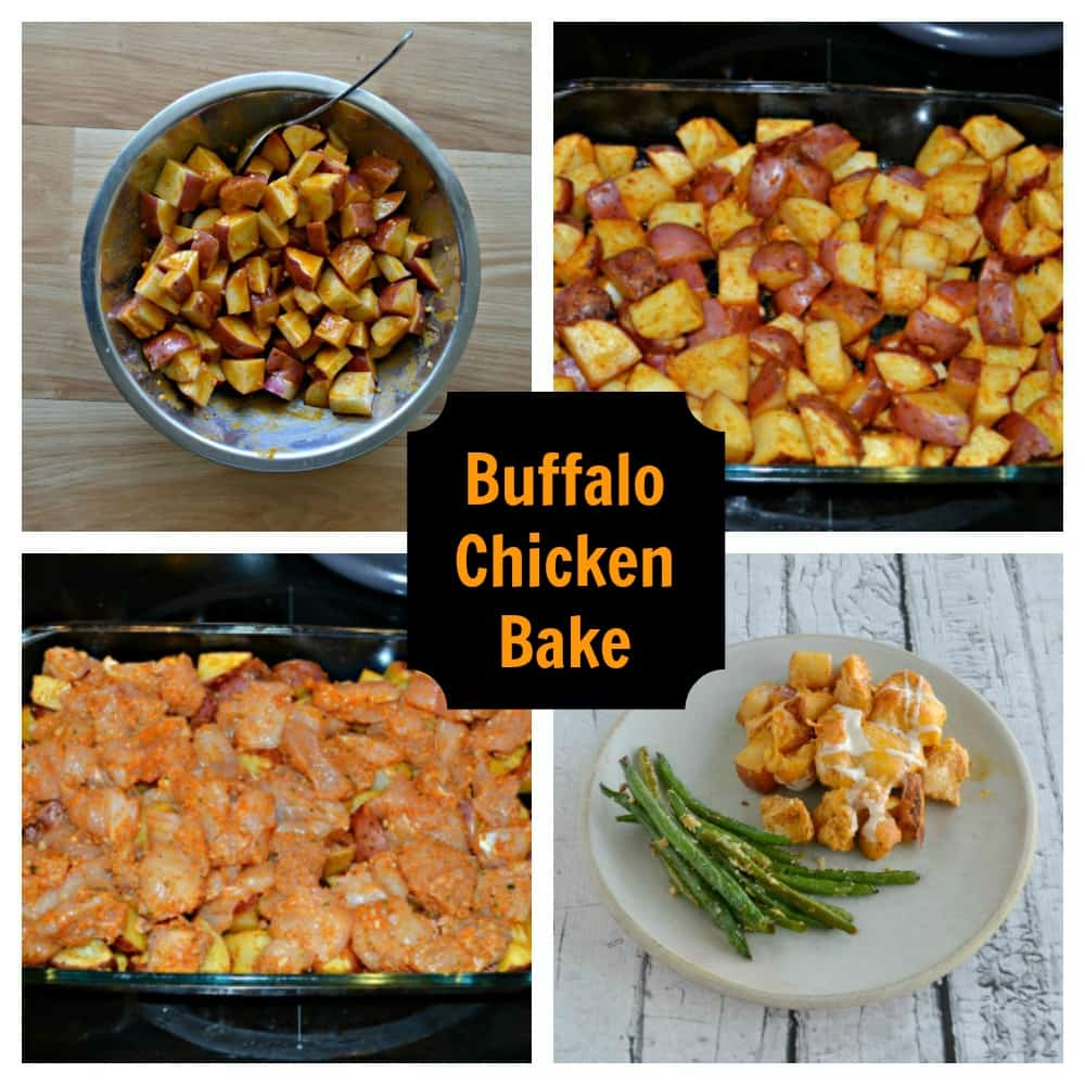 Looking for a delicious and easy to make weeknight meal the whole family will enjoy? Check out this Loaded Buffalo Chicken and Potato Bake!