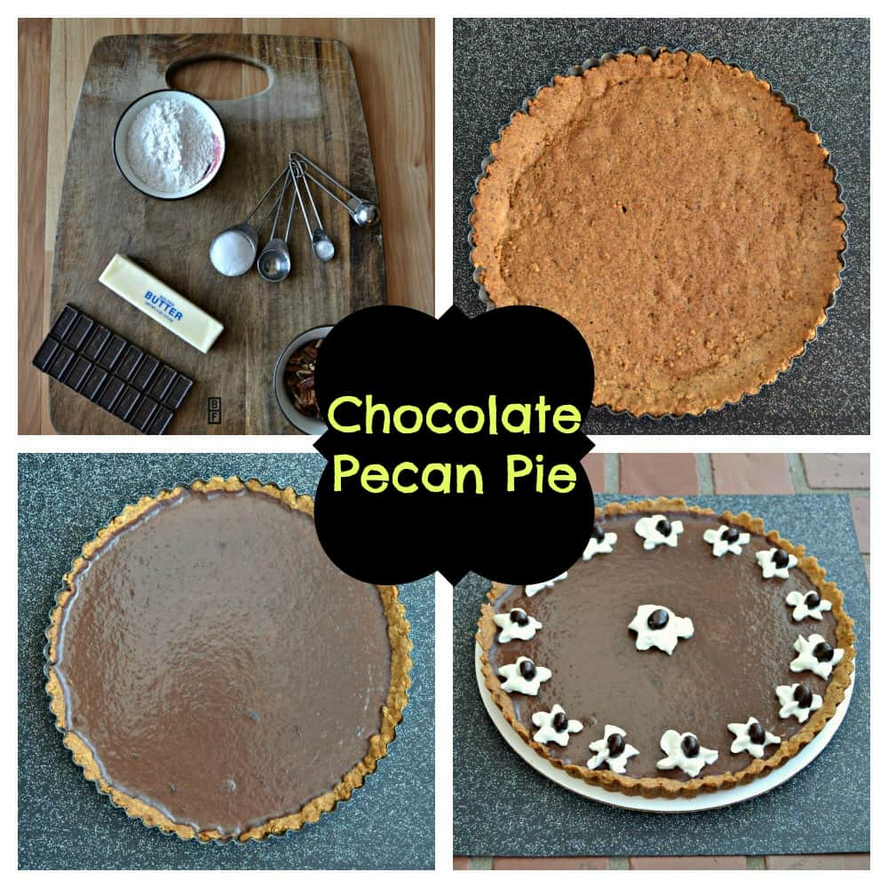It only takes a few steps to make this delicious Chocolate Pecan Pie!