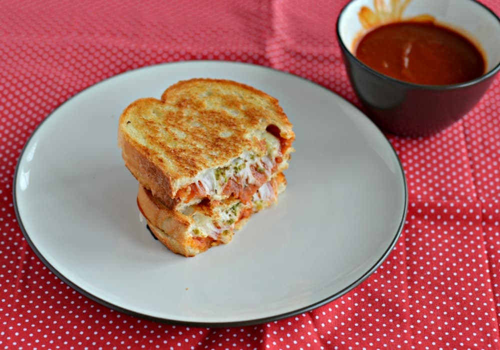 Bite into this delicious Pizza Grilled Cheese Sandwich!