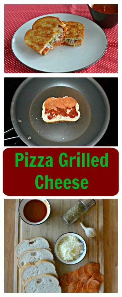 It only takes a few minutes to make a mouthwatering Pizza Grilled Cheese Sandwich