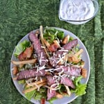 Steakhouse Salads with Homemade Ranch Dressing