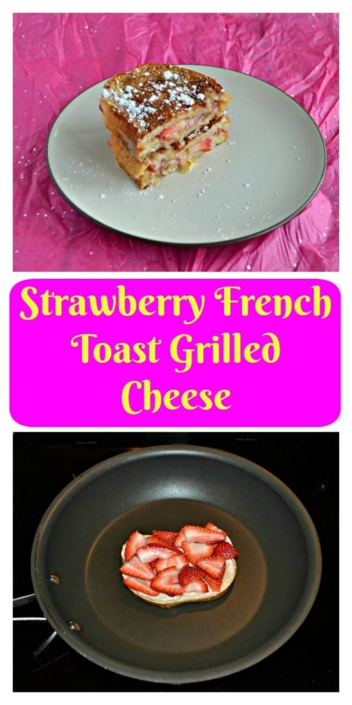 Love this awesome sweet Strawberry French Toast Grilled Cheese