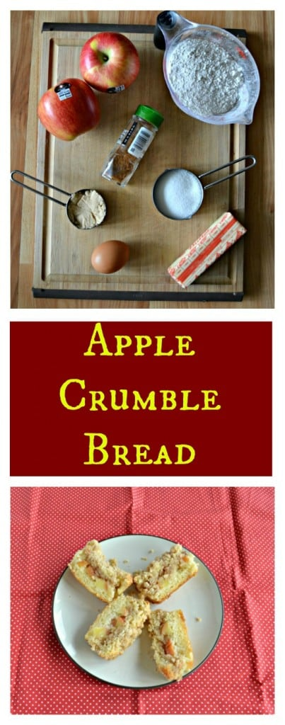 Everything you need to make a sweet and spiced Apple Crumble Bread