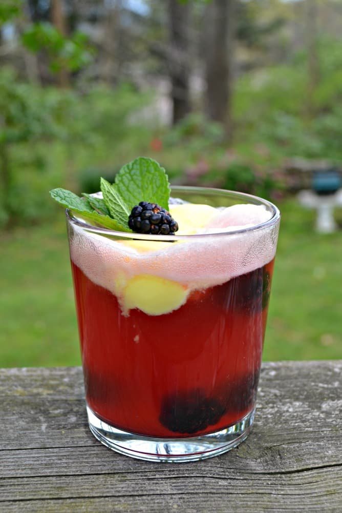I love the sweet and tart flavor of these Blackberry Lemon Cocktail Floats.