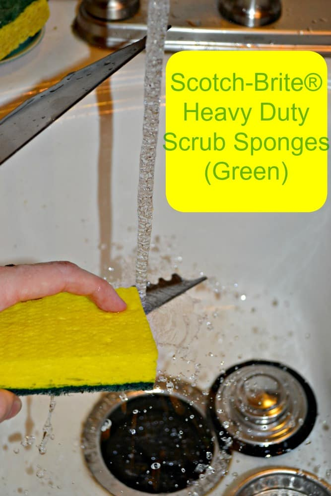 Scotch-Brite Heavy Duty Scrub Sponges are great for cleaning baked on foods.
