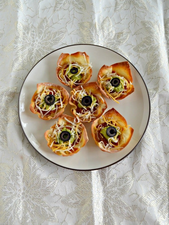 We love these flavorful Hummus Taco Cups made with Sabra Hummus!