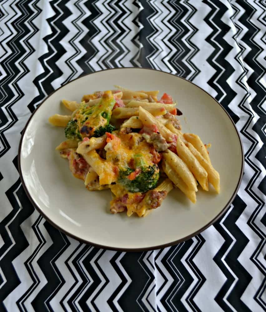 This Macaroni and Queso with Chorizo and Broccoli is great as a side dish or a main meal!