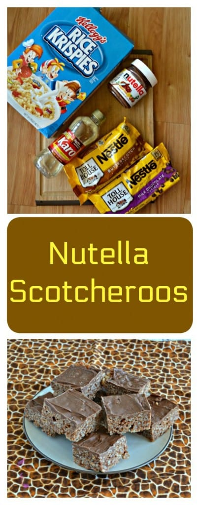 There's only a few ingredients in these easy and delicious No Bake Nutella Scotcheroos!