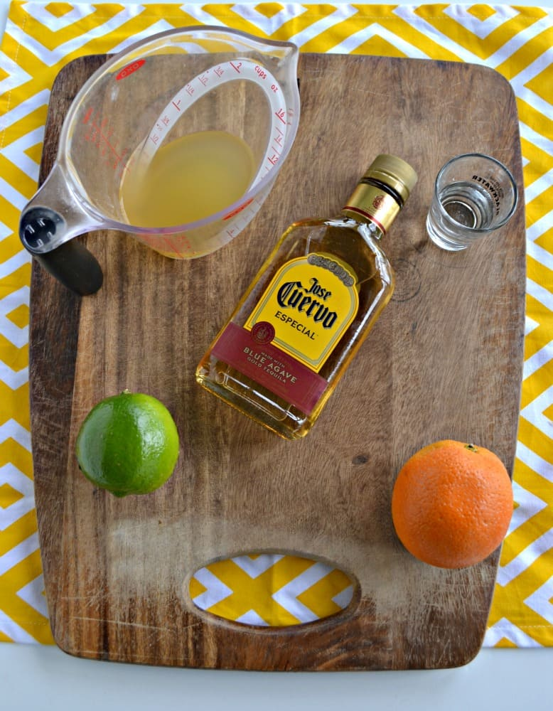 Everything you need to make a delicious Pineapple Margarita!