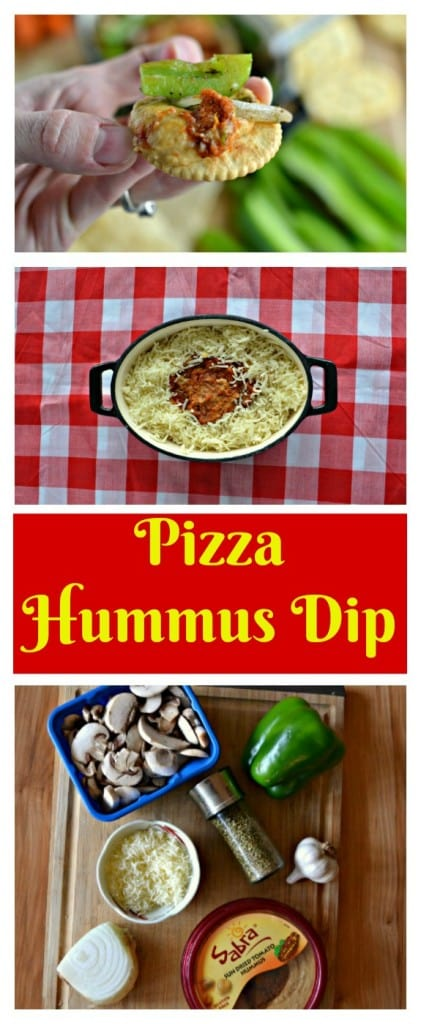 Everything you need to make this warm Pizza Hummus Dip!