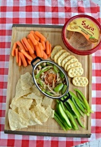 You'll love this Pizza Hummus Dip! It's great in the afternoon as an Unofficial Meal!