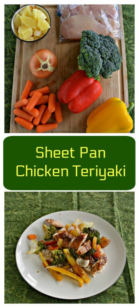 Everything you need to make a delicious Sheet Pan Chicken Teriyaki and Vegetables dish1