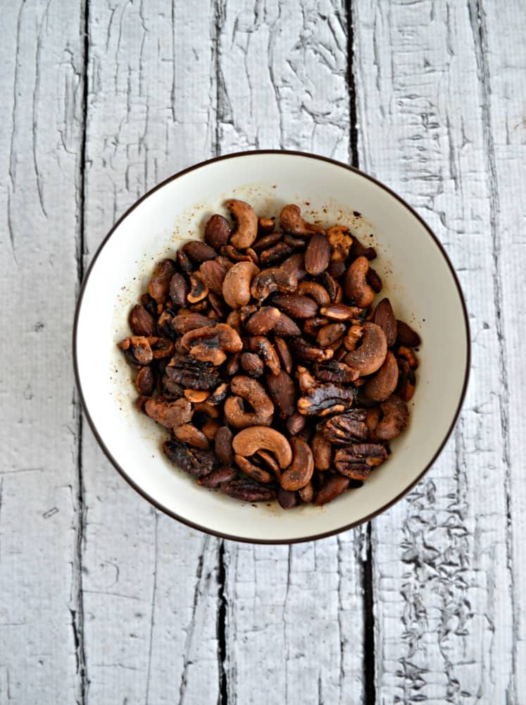 If you like mixed nuts you'll love these Smokey Spiced Nuts!