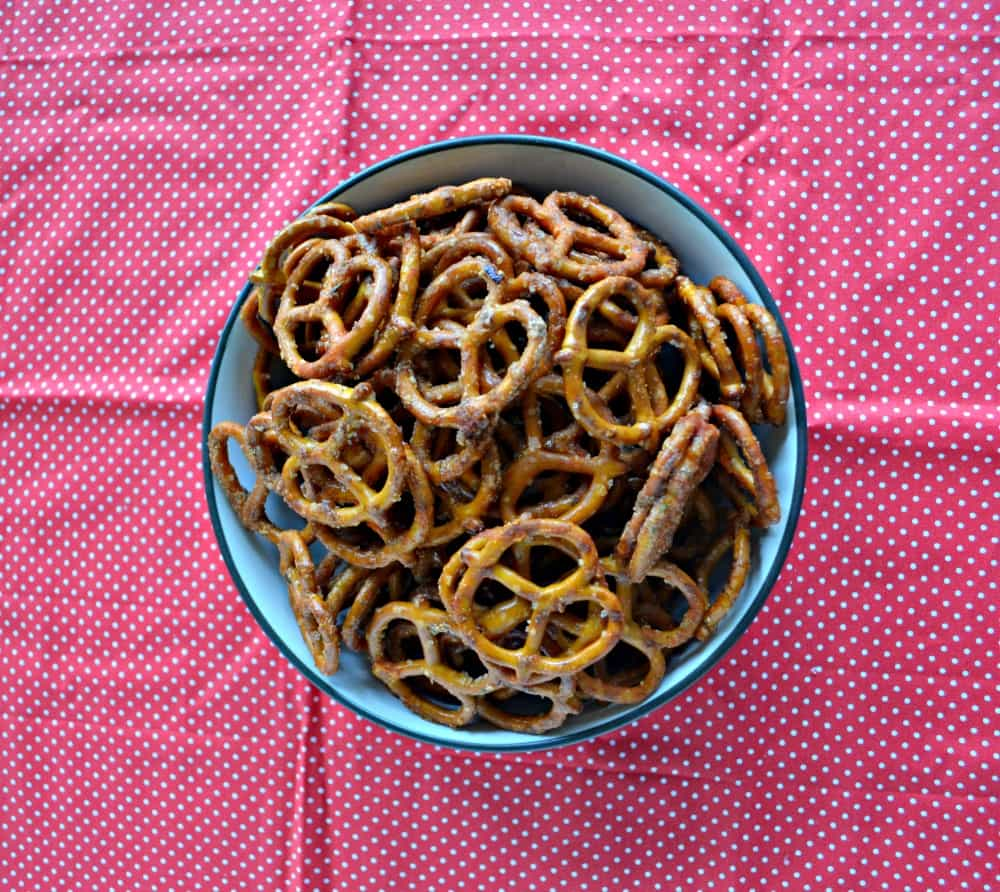 Grab a handful of Spicy Seasoned Pretzels whenever I get hungry!