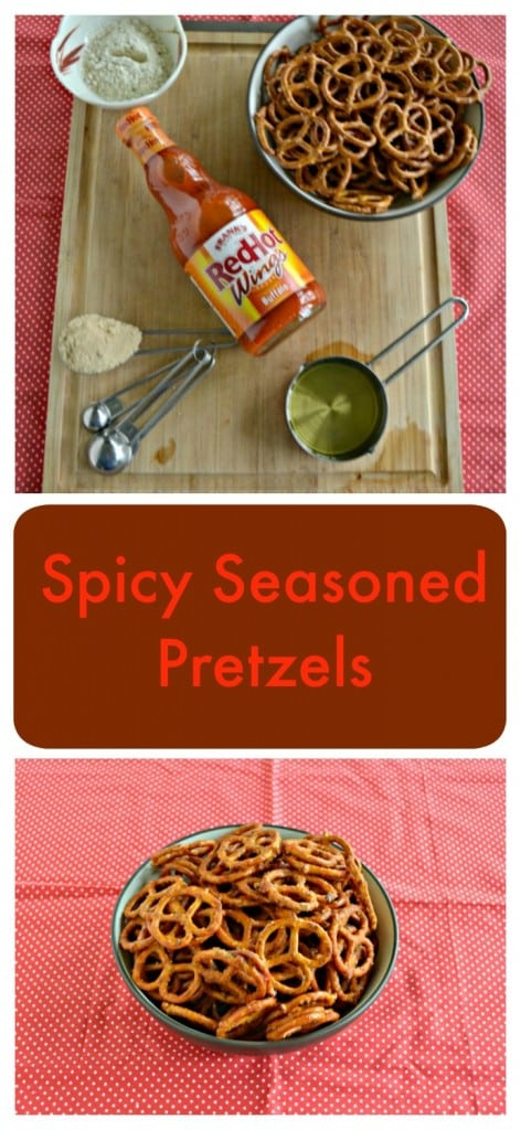 Need a snack while you fire up the grill? Try these Spicy Seasoned Pretzels made with Frank's RedHot!