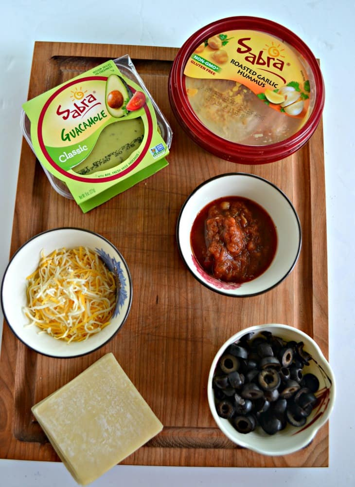 Everything you need to make delicious Sabra Hummus Taco Cups!