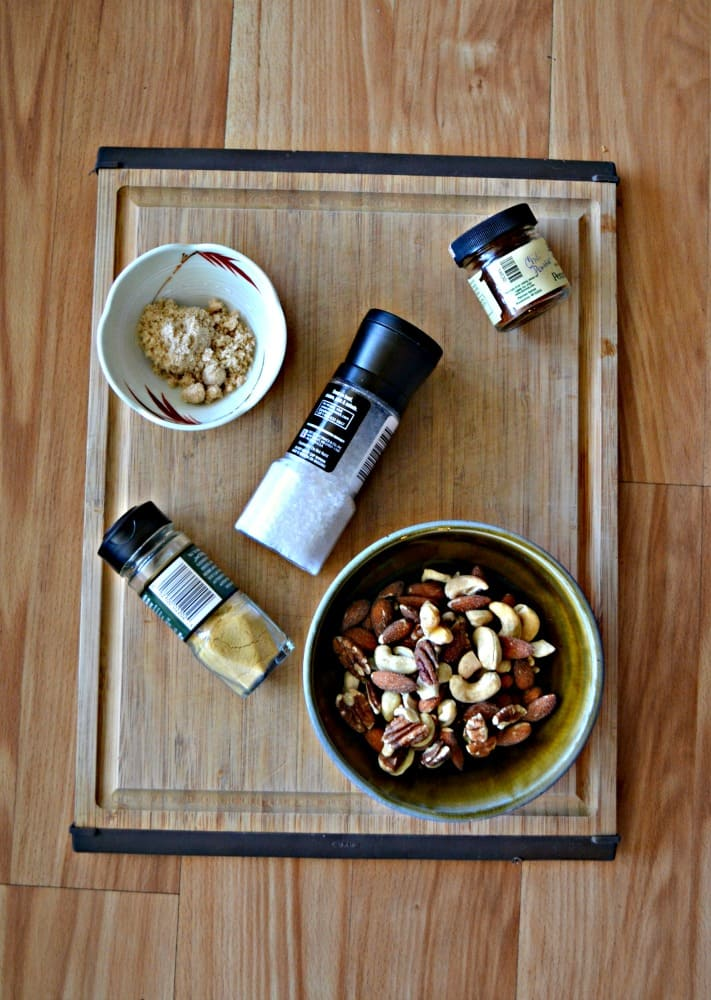 Everything you need to make Smokey Spiced Nuts