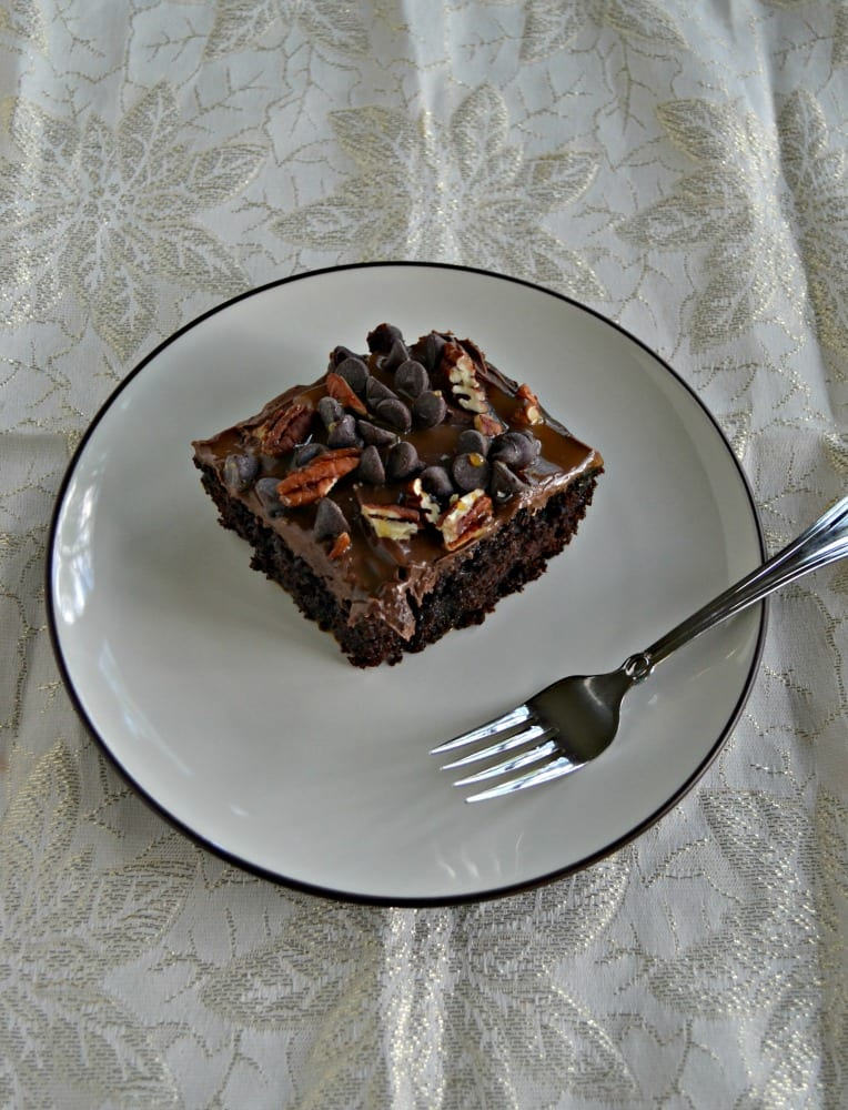 If you like chocolate you'll love this easy Turtle Poke Cake!