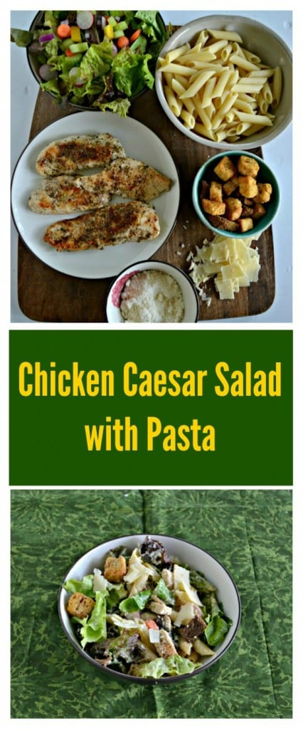 You'll love this simple Chicken Caesar Salad with Pasta as a summertime meal!