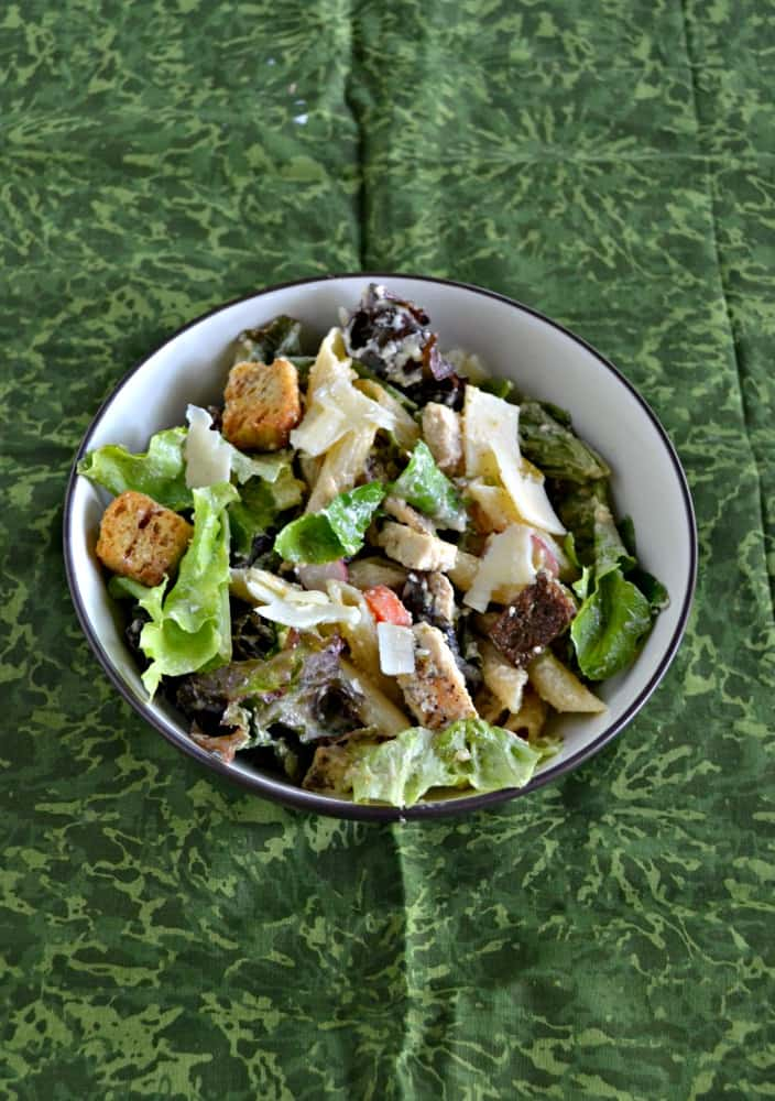 Looking for a great summer meal? Try this tasty Chicken Caesar Salad with Pasta!
