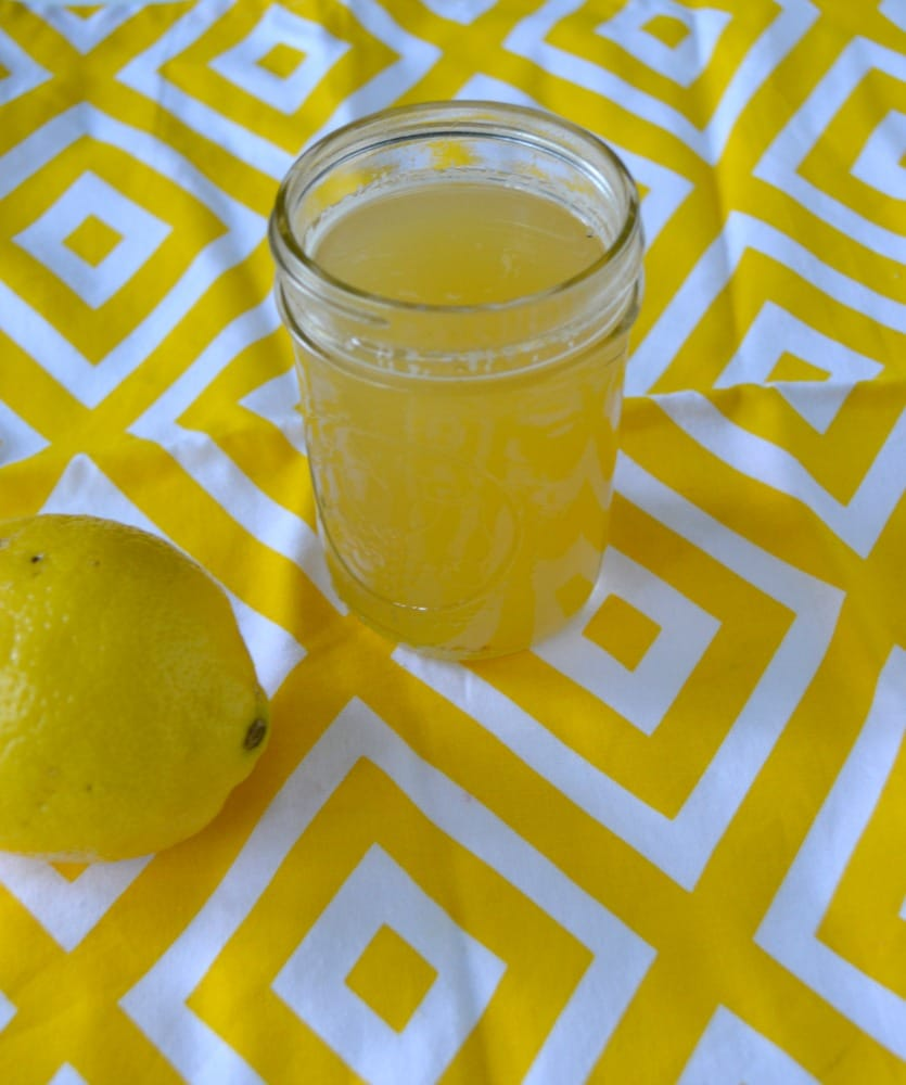 Homemade Lemon Honey Mint Simple Syrup is great for flavoring teas, lemonade, or sparkling water!