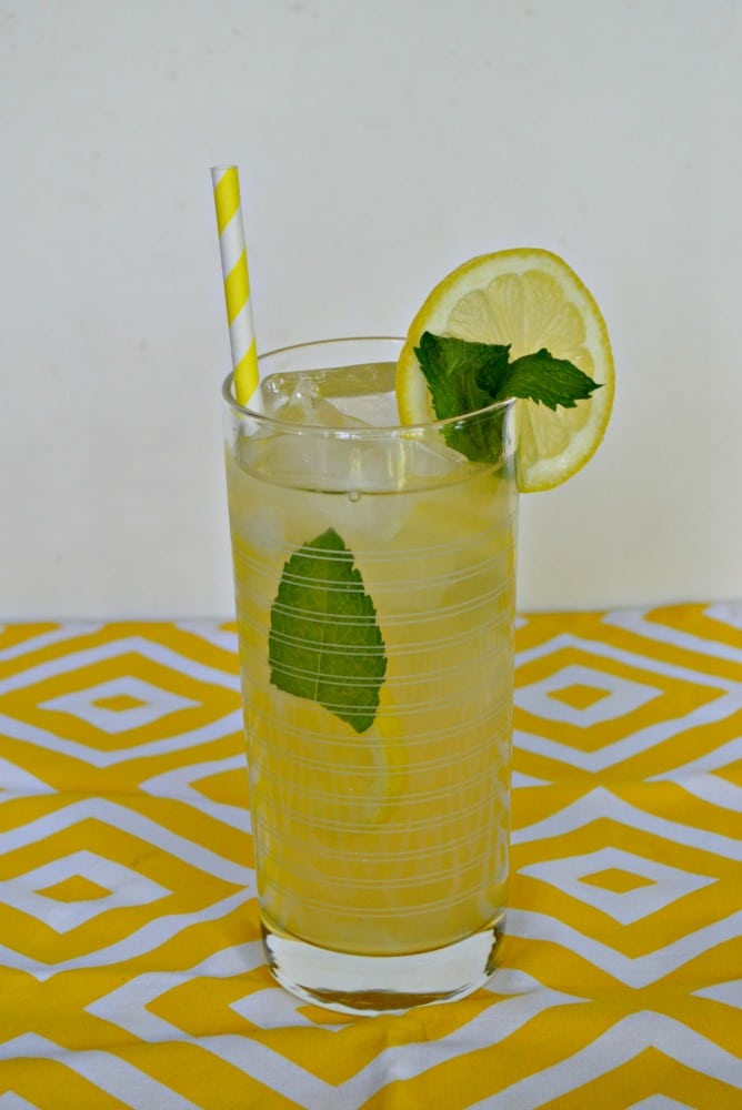 Sip on this refreshing Honey Lemon Mint Iced Tea all summer long!