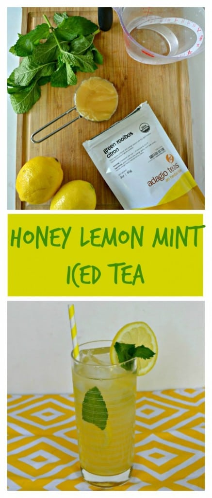 This refreshing Honey Lemon Mint Iced Tea recipe is perfect for hot days!
