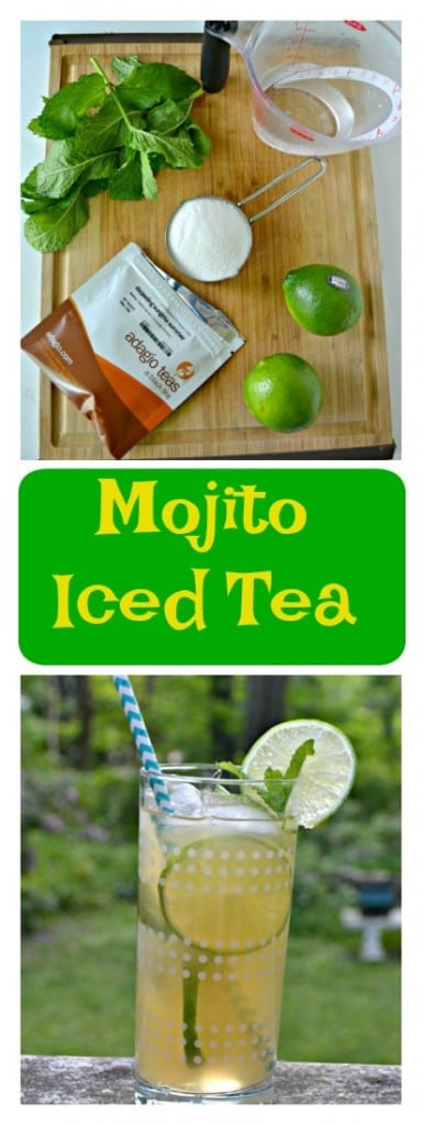 It only takes a few minutes to make this incredible Mojito Iced Tea!