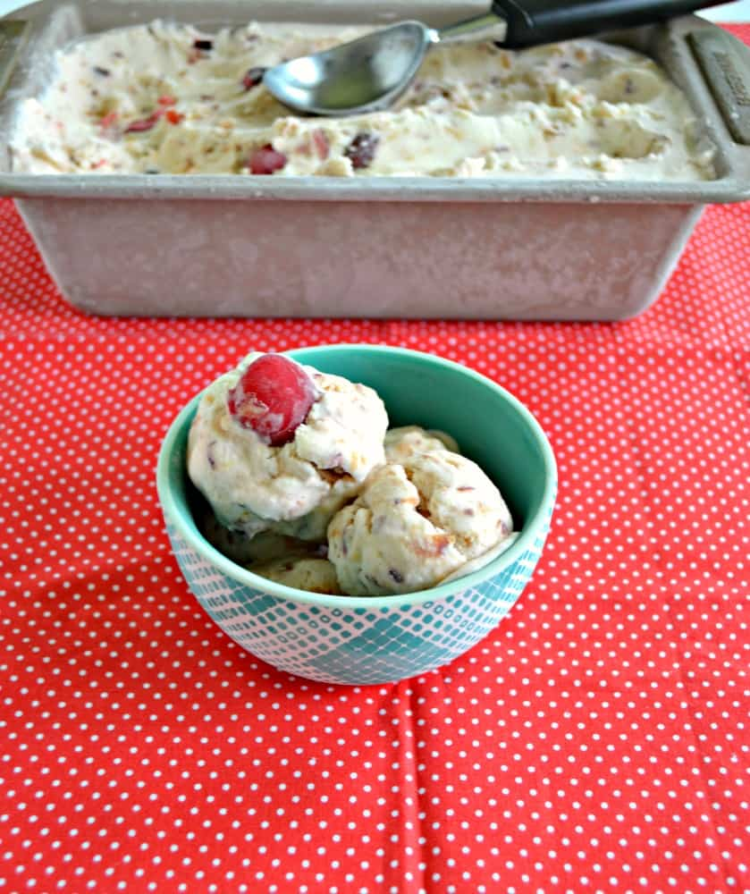 Cool off with this delicious No Churn Cherry Vanilla Ice Cream!